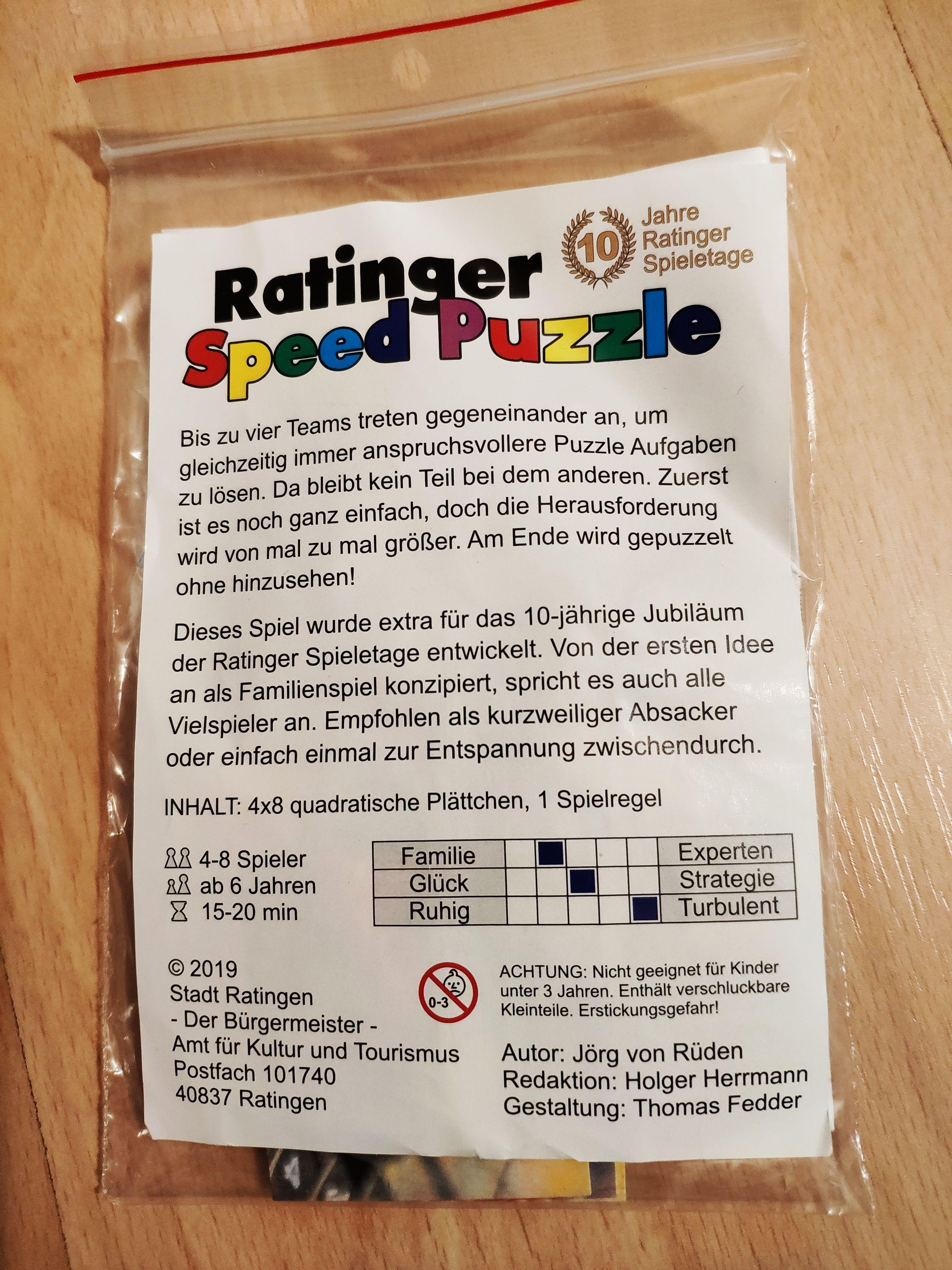 Ratinger Speed Puzzle