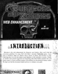 RPG Item: Dungeons and Zombies Web Enhancement