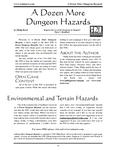 RPG Item: A Dozen More Dungeon Hazards