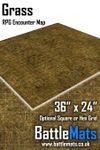 "RPG Item: Grass 36"" x 24"" RPG Encounter Map"