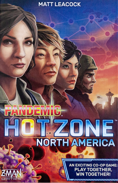 Pandemic: Hot Zone – North America, Z-Man Games, 2020 — front cover