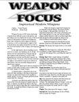 RPG Item: Weapon Focus: Improvised Modern Weapons
