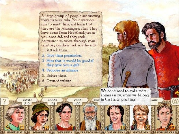 Screen shot of the video game The King of Dragon Pass