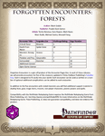 RPG Item: Forgotten Encounters: Forests