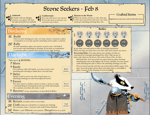 Badger faction board. (In Development! Not Final.)