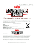 RPG Item: DDEX2-08: Foulness Beneath Mulmaster