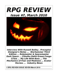 Issue: RPG Review (Issue 7 - Mar 2010)