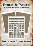 RPG Item: Print & Paste 2.5D Dungeon Textures: Shelves & Cupboards