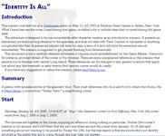 RPG Item: Identity is All