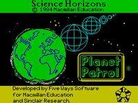 Video Game: Planet Patrol