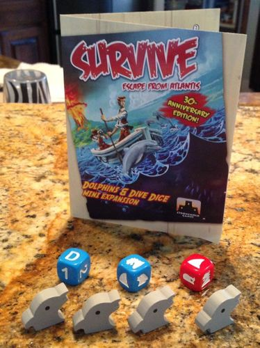Board Game: Survive: Escape from Atlantis! Dolphins & Dive Dice Mini Expansion