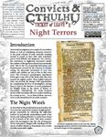 RPG Item: Convicts & Cthulhu: Ticket of Leave #01: Night Terrors