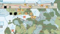 The successful conclusion of the Winter War.  The Finnish units, facing isolation of their capitol and attrition surrender.  However the cost is high, three soviet HQs each reduced 2 steps (Vassal)