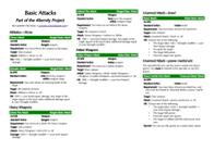 RPG Item: Basic Attacks