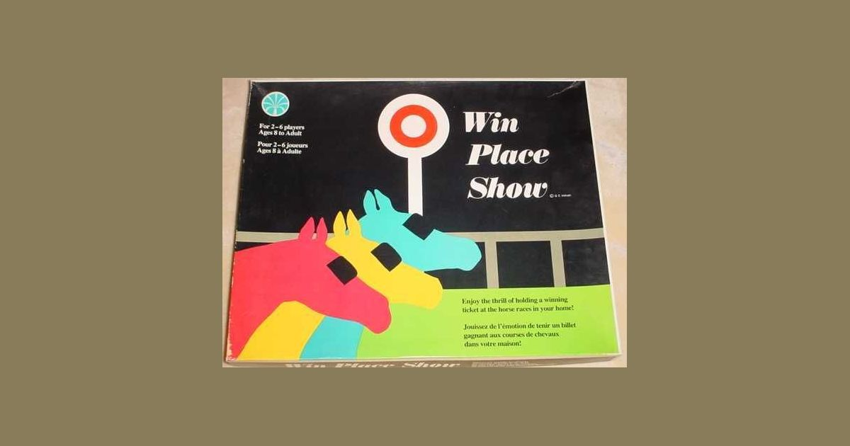 Win Place Show Board Game Boardgamegeek