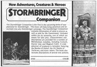 RPG Item: Stormbringer Companion
