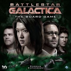 Battlestar Galactica: The Board Game – Exodus Expansion Cover Artwork