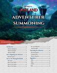 RPG Item: Adventurer Summoning (5e)
