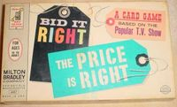 Board Game: Bid It Right: The Price is Right Card Game