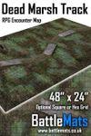 """RPG Item: Dead Marsh Track 48"""" x 24"""" RPG Encounter Map"""