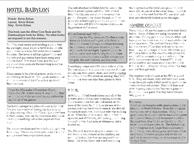 RPG Item: Hotel Babylon (Aether Edition)