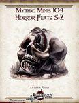 RPG Item: Mythic Minis 104: Horror Feats S-Z