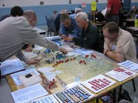 Sept 2006, final beta testing at Calgary FallCon.  Craig Besinque is 2nd from the right.