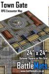 RPG Item: Town Gate RPG Encounter Map