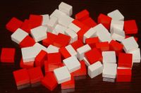 All the York (white) and Lancaster (red) blocks - without stickers