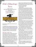 RPG Item: Fehr's Ethnology: Xesa