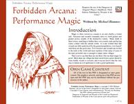 RPG Item: Performance Magic
