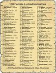 RPG Item: 100 Female Luchadora Names
