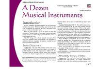 RPG Item: A Dozen Musical Instruments