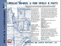 RPG Item: Libellus Magnus 2: Spells & Feats