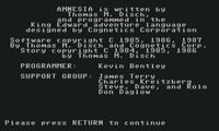 Video Game: Amnesia (1986)