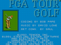Video Game: PGA Tour Golf