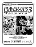 RPG Item: GURPS Power-Ups 3: Talents