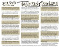 RPG Item: Tavern Owners
