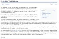 RPG Item: Don't Rest Your Hooves