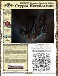 RPG Item: Zeitgeist Add-on: Crypta Hereticarum (Pathfinder)