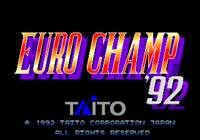 Video Game: Euro Champ '92