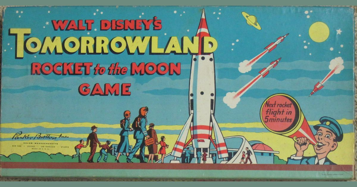 Walt Disney S Tomorrowland Rocket To The Moon Board Game Boardgamegeek