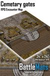 RPG Item: Cemetary Gates RPG Encounter Map