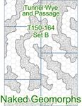 RPG Item: Naked Geomorphs: Tunnel Wye and Passage Set B
