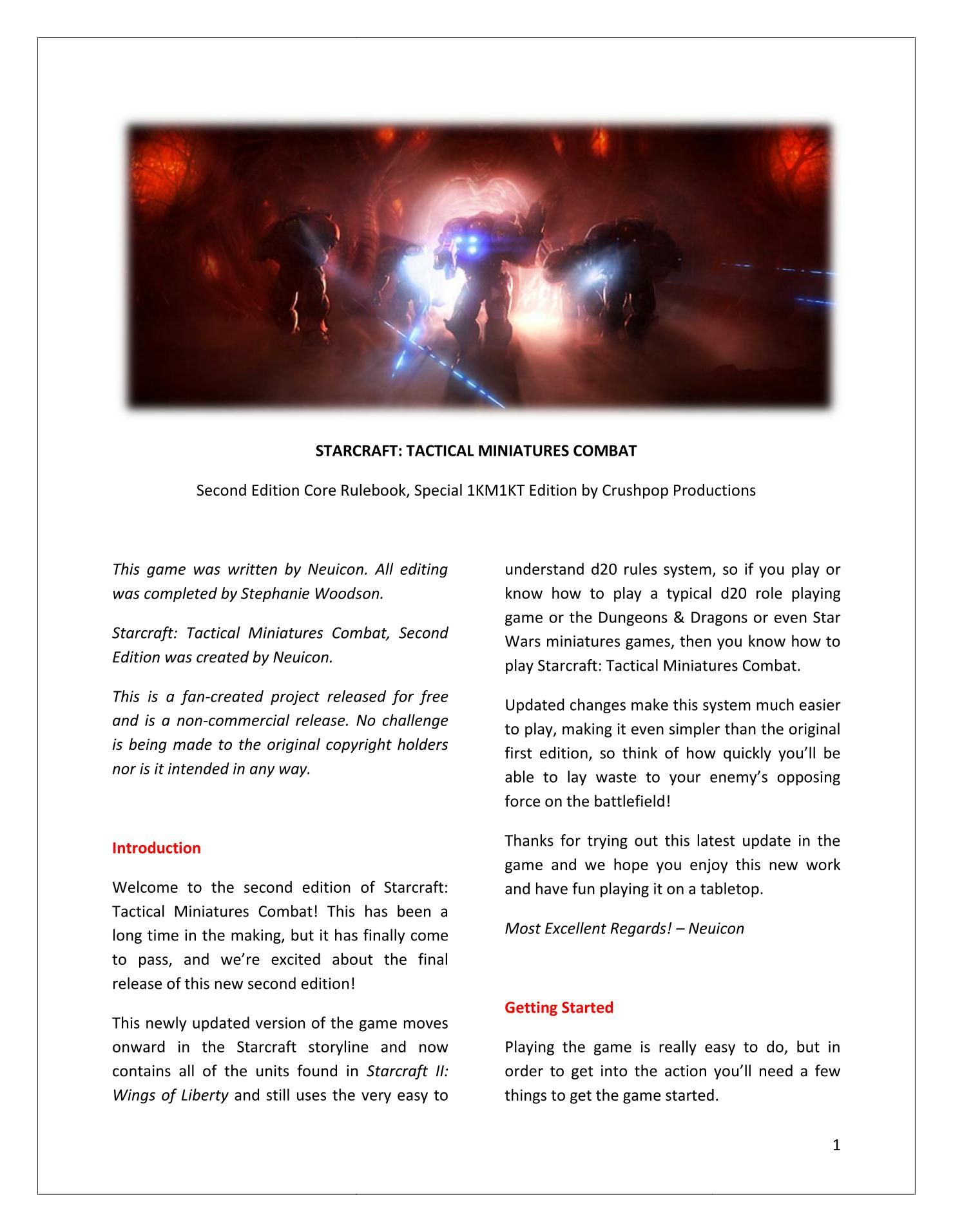 Starcraft: Tactical Miniatures Combat