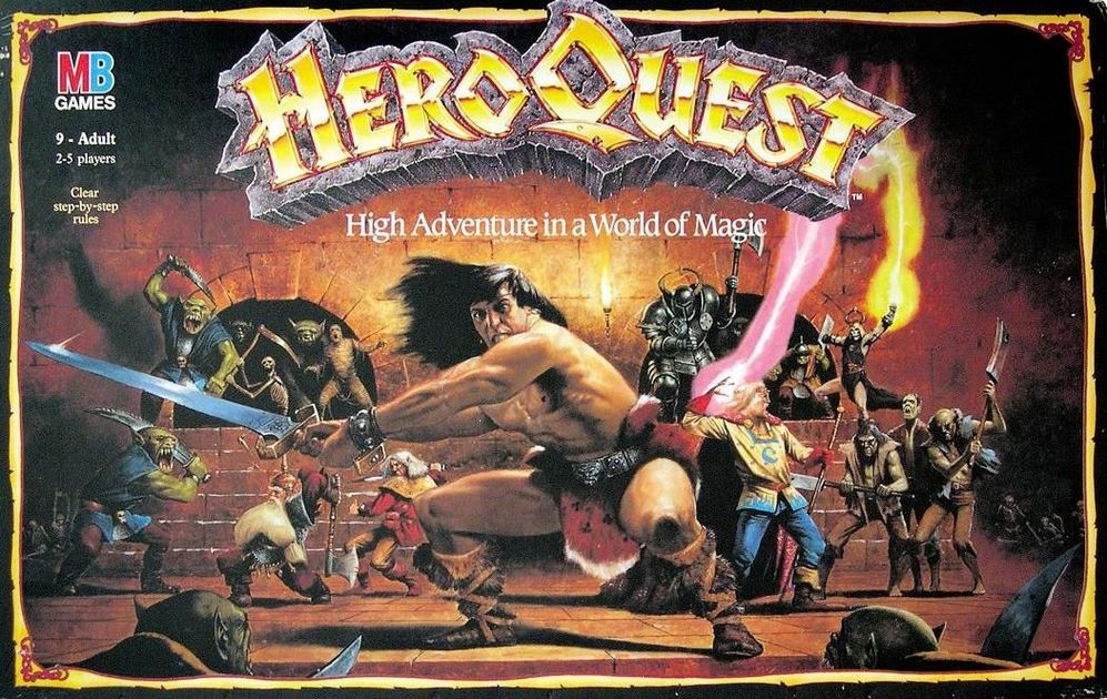 Card Set Complete Hero Quest Replacement RPG HeroQuest Dwarf Hero Miniature