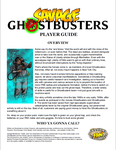 RPG Item: Savage Ghostbusters Player Guide