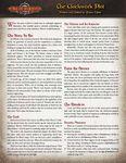 RPG Item: The Clockwork Plot