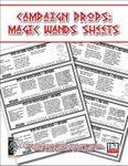RPG Item: Campaign Props: Magic Wand Sheet