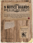 RPG Item: 9 Notice Boards with 50 Side Quest Templates